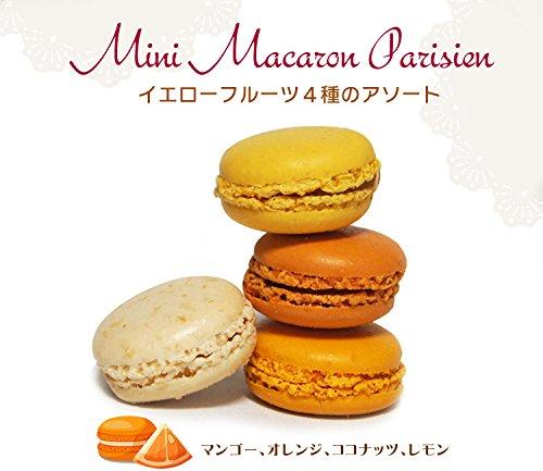 マカロンイエロー系4色12個冷凍(ココナッツ・マンゴー・レモン・オレンジ)フランス