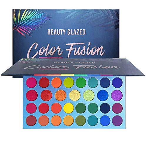High Pigmented Makeup Palette Easy to Blend Color Fusion 39 Shades Metallic and Shimmers Eyeshadow Sweatproof and Waterproof Eye Shadows