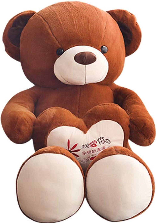 LAIBAERDAN Plush Doll Confession Bear Doll Girl Birthday Gift Girl Pillow 6080100120Cm