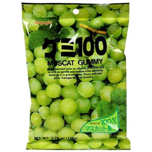 Kasugai Gummy Candies with Muscat (Green Grape) Juice