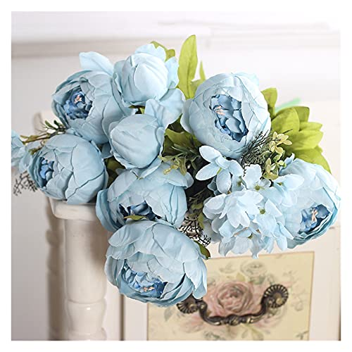 Wangweiming 50 cm Rosa Seide Pfingstrose Künstliche Blumen Großer Blumenstrauß Arrangement Gefälschte Blume Weiß DIY Home Hotel Party Hochzeit Dekoration Kranz WWM (Color : 18-21, Size : 1 pc)