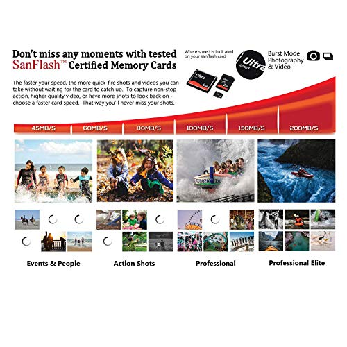 SanDisk Ultra 128GB MicroSDXC Verified for Samsung Galaxy S20 Plus by SanFlash 100MBs A1 U1 C10 Works with SanDisk