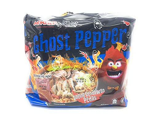 Daebak Ghost Pepper Spicy Black Noodles Tik Tok Spicy Challenge Spicest Noodle ever created, Hottest Pepper in the World Asmr Challenge (4 Packs Ghost Pepper Spicy)