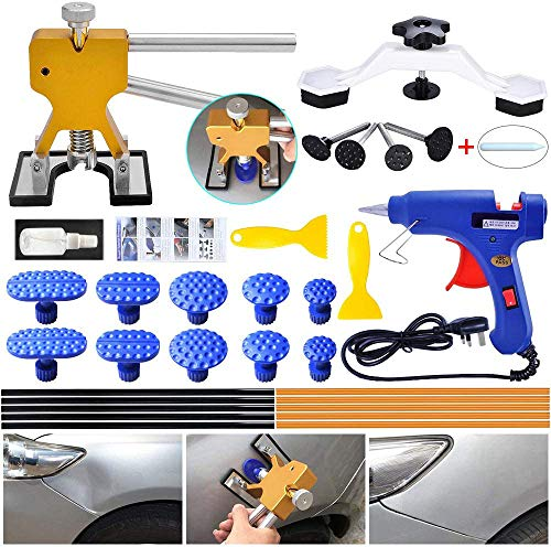 Auto Paintless Dent Repair Kit - Golden Car Dent Puller with Bridge Dent...