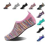 HMIYA Aqua Socks Beach Water Shoes Barefoot Yoga Socks Quick-Dry Surf Swim Shoes for Women Men (Color Pink, 36/37EU)