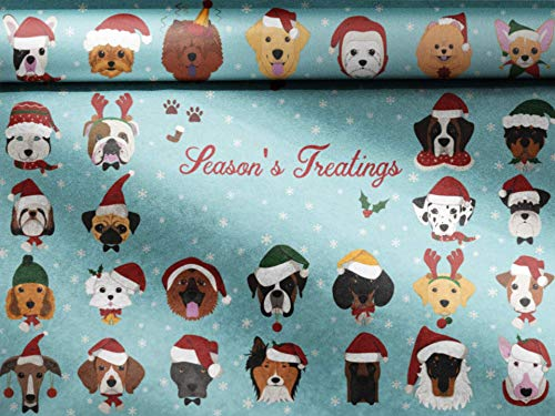 Paw Paper - Edible Dog Wrapping Paper (Holiday - Season's Treatings)
