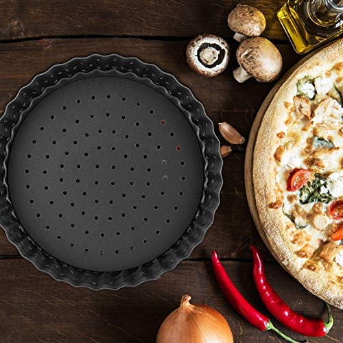 Fockety High Strength Pizza Mold, Durable Easy Cleaning Pizza Baking Dish, Easy Demoulding for Make Pizza Family(Small (5 inches))