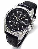 SEIKO クロノグラフ 腕時計 本革ベルトセット 国内セイコー正規流通品 ブラック SND367P1 [並行輸入品]