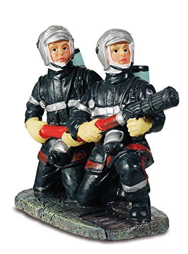 Knieende Feuerwehrfiguren