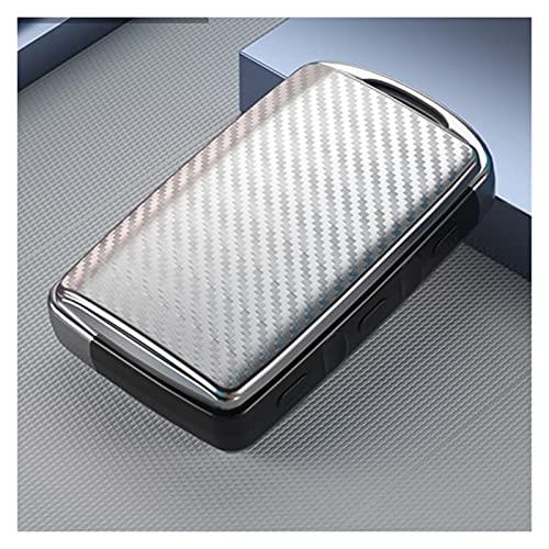 ZHANGHANG Caja de clavija de la llave del automóvil de fibra de carbono Ajuste de la llave de la funda para Mazda 3 2020 Axela Keyfob 3 BTN Protector de la llave de la llave del color de la fibra de c