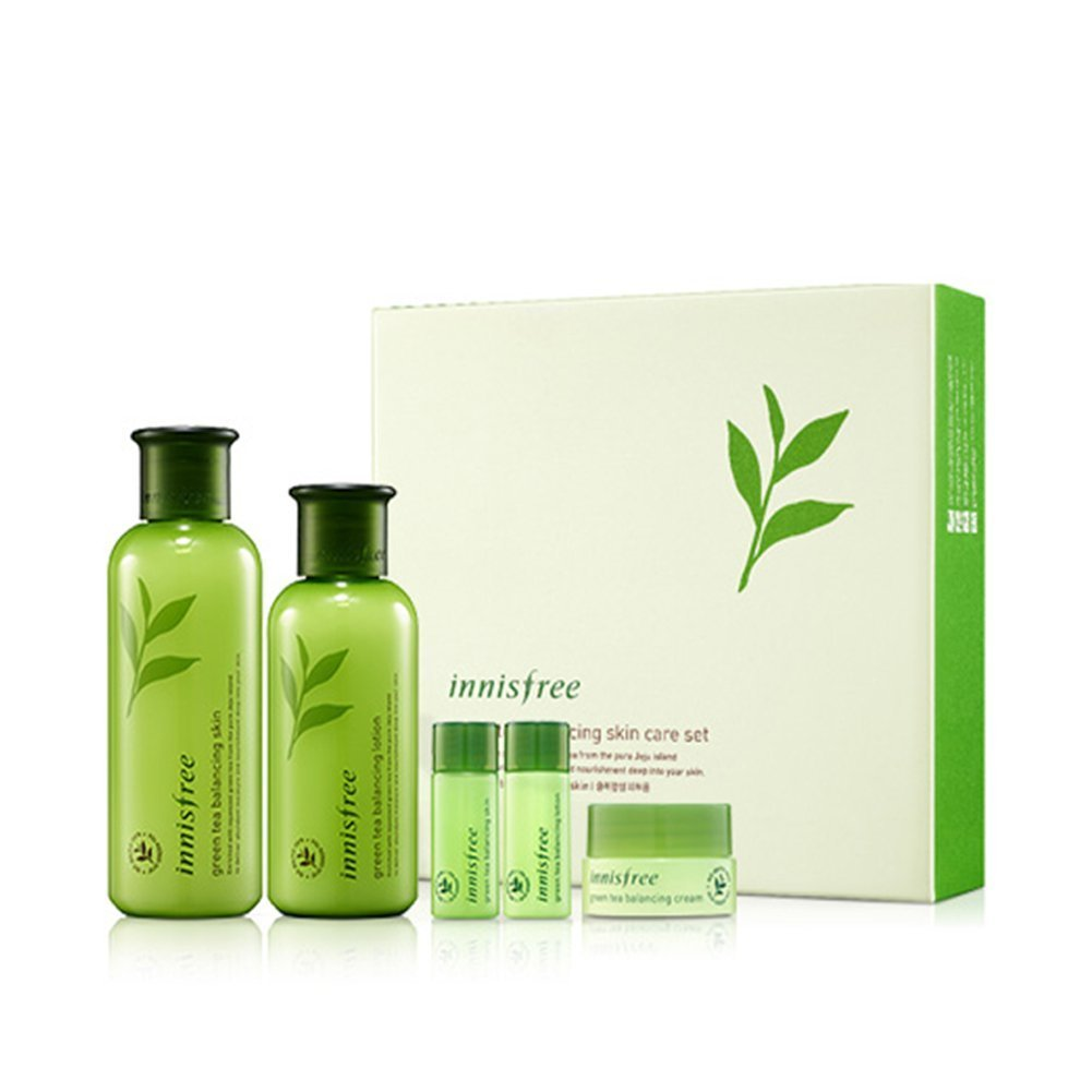 アパル危険を冒します申し立て[イニスフリー] Innisfree [グリーンティーバランシングスペシャルスキンケアセット] Green Tea Balancing Special Skin Care Set [海外直送品]