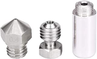 KEHUASHINA All Metal Hotend Kit for MK10 Exturders Include Nozzle Thermal Barrier Throat Compound