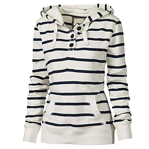 Xmiral Sweatshirt Sportiva Felpa T-Shirt Outwear Jacket Donna Invernale Panciotto Gilet Donna Piumino Giubbotti Suit Vest Camicia Sportivo Maglia Felpa Donna Canotta Donna Palestra (4XL,Bianca)
