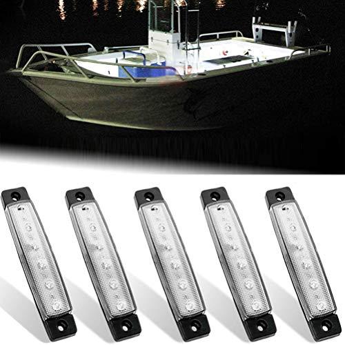 Yunobi 5 Stück 12 V Marine LED Lichter Wasserdicht Anti-Kollision Navigation Lichter Marine Boot Hecklicht Stern Licht für Schiff Kajak fahren
