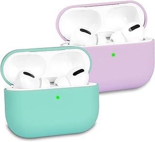 KOKOKA Coque Étui Protecteur Compatible avec AirPods Pro, Housse de Protection en Silicone Anti-Choc, Ultra-Mince, Antidér...