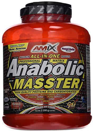 Amix Nutrition Anabolic Masster Proteínas y Carbohidratos, 2,2 Kg, Frutas