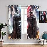 Matt Flowe Batman vs Darth Vader - Juego de cortinas lavables...