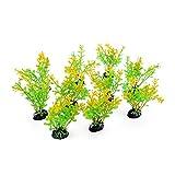 Filhome 10 plantas acuáticas artificiales de plástico para acuario, 10 cm, color amarillo