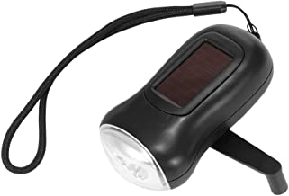 Led Torch Flashlight, Manual Led Flashlight Solar Power Flashlight Torch Light Lamp Indicator Bike Camping Water Resistant...