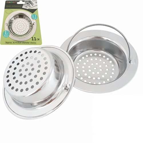 Fengbao 2PCS Stainless-Steel Kitchen Sink Strainer - Large Wide Rim 4.3
