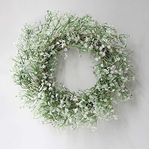 Ironhorse Guirnalda de flores de tela de seda artificial para decoración de la puerta, decoración de la pared, utilizada para bodas, jardín, chimenea, pared, hogar, primavera, decoración de flores
