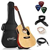 Ashthorpe Full-Size Cutaway Thinline Acoustic-Electric Guitar Package - Premium Tonewoods ...