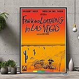 WDQFANGYI Miedo Y Repugnancia En Las Vegas Póster De Película Arte De La Pared Pintura De La Lona Imagen Decoración Sala De Estar Etiqueta De La Pared Regalo 50X70Cm (Sh-2832)