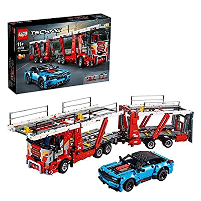 LEGO 42098 Technic Car Transporter - to - Truck and Show Cars, 2 in 1 Model, Advanced Construction Set