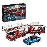 LEGO 42098 Technic Camión de Transporte de Vehículos con Coche Azul 2 en 1 Modelo Set de construcción