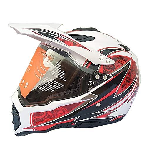 HZIH Cascos Motocross Adulto Casco Cross Cascos Integrales de Moto,ECE Homologado,Casco Off Road para Enduro Motorcycle ATV MTB BMX Quad Go-Kart Bicicleta Racing D,XL=60~61cm