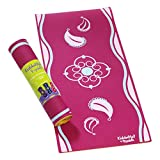 YOGALETTE Toddler Baby Kids Yoga Mat 0-3 Years (Pink yoga mat), Great as New Baby Gifts, 1st birthday gifts for girls or Baby Shower Gifts or use as a Change Mat or Play Mat with Baby Sensory toys