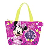 Minnie Sac de plage - Cabas enfant fille Disney Rose/jaune 46cm
