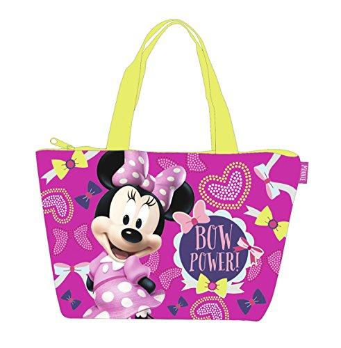 Minnie Sac de plage - Cabas enfant fille Disney Rose/jaune 46cm