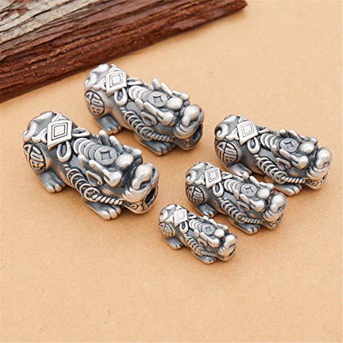 S925 Sterling Silber Retro Lucky Antike Münze Pixiu Zubehör Feng Shui Auspicious DIY Schmuckherstellung Herstellung von Armband Halskette Anziehen Glückliches Vermögen (1...