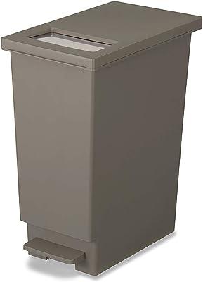 トンボ ゴミ箱 30L 日本製 フタ付き プッシュタイプ ペダル式 ブラウン ネオカラー 新輝合成