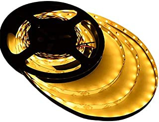 Ledwholesalers UL 16.4-ft Flexible LED Light Strip with 300xSMD2835 12-Volt 24-Watt, Warm White 2700K, 20105WW-27K