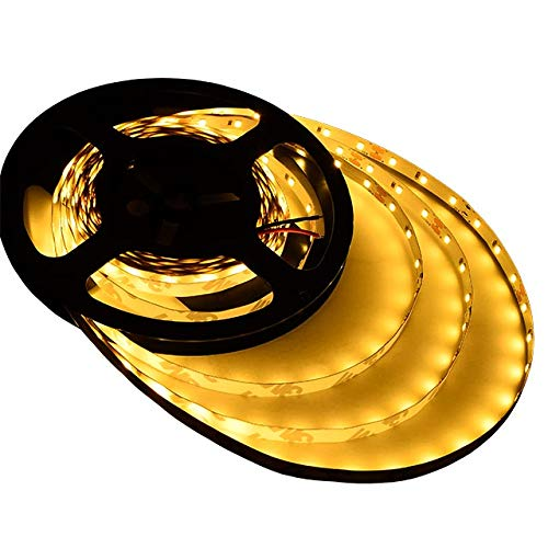 LEDwholesalers UL 16.4-ft Flexible LED Light Strip with 300xSMD2835 12-Volt 24-Watt, Warm White 2700K, 20105WW-27K Nevada