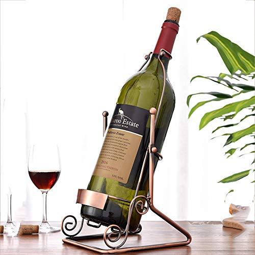 Yuzhijie Botellero de 5 l de vitrina de vino de hierro forjado para vino