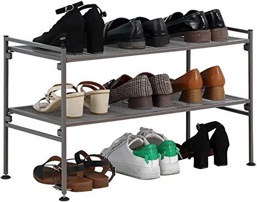 Zapato simple Mulilaya Marco de zapatería Dormitorio Dormitorio Dormitorio Hierro de hierro forjado,Black