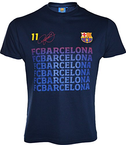 Kinder-T-Shirt Barça–Neymar Jr., offizielle Kollektion des FC Barcelona 12 Jahre marineblau