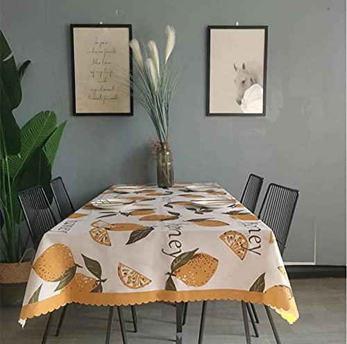 Nappe de Fruits Nappe imperméable Nappe rectangulaire Table à Manger Couverture cheminée comptoir 140X220Cm