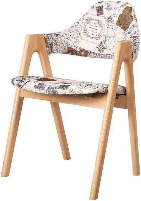 AJZGFChaise de salle à manger, chaise de cuisine Chaise en bois massif, chaise de salle à manger, chaise de café, chaise d'ordinateur, chaise créatrice de loisirs. (Couleur : E) E