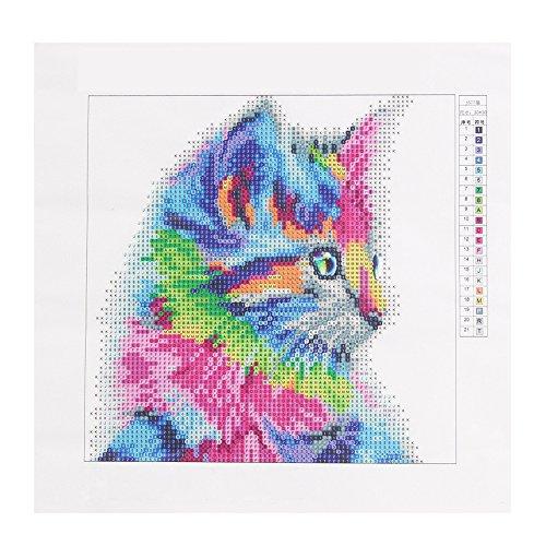 Rainbow Cat 5d Bricolage Diamant Peinture Murale Art Home Office Décor à la Main Craft Cadeau