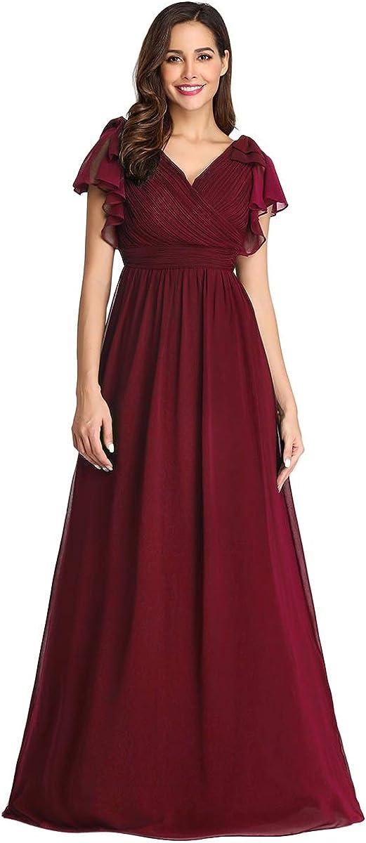 Ever-Pretty Women's A-Line Wedding Bridesmaid Dress Long Formal Dress 7709