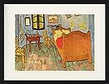 1art1 Vincent Van Gogh - El Dormitorio En Arlés, 1889 Póster De Colección Enmarcado (80 x 60cm)