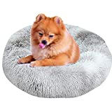BVAGSS Warm Pet Bed Cuddler Kennel Soft Puppy Sofa Round Nest Sleeping Cushions for Cats and Dogs XH062 (Diameter:40cm, Tie Dye Grey)