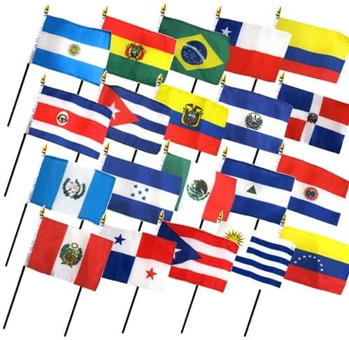 Set of 20 Latin American Max 81% Discount mail order OFF Flags 12x18in