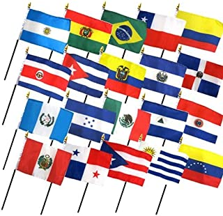 Set of 20 Latin American Flags (4x6 inch)