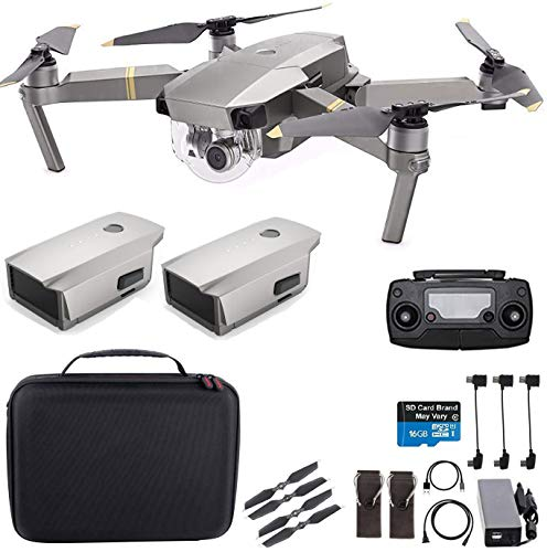 DJI Mavic Pro Platinum with Extra Battery, Flagship 4K Quadcopter Drone with 30 Mins Flight Time, 7 km Range, Obstacle Avoidance and More