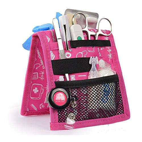Salvabolsillos, Keen\'s, Mobiclinic, Para bata o pijama, Diseño exclusivo con estampados en color rosa, Amo la enfermería